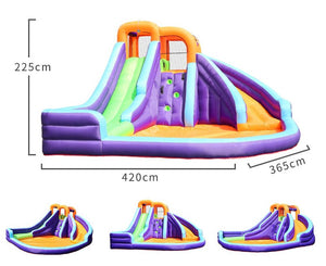 Double-Slide Inflatable Water Park