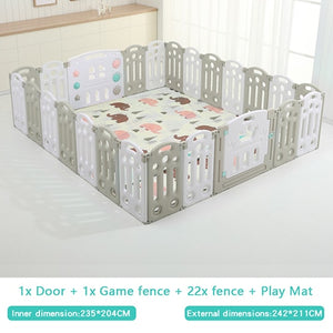 Fold-able Expandable Playpen - 24 Piece Set
