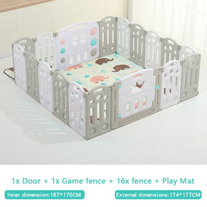 Fold-able Expandable Playpen - 18 Piece Set