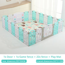 Load image into Gallery viewer, Fold-able Expandable Playpen - 24 Piece Set