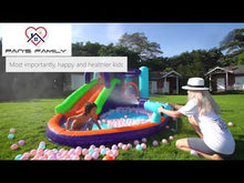 Load and play video in Gallery viewer, Double-Slide Inflatable Water Park