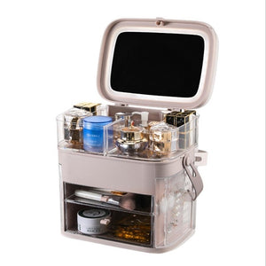 Makeup Organizer With Mirror LED light