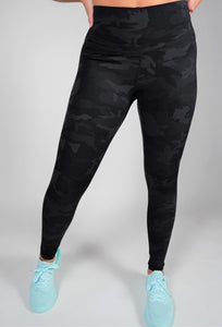 Pattern Leggings Black Camo