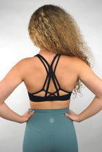 Load image into Gallery viewer, Y-Strap Black Sports Bra