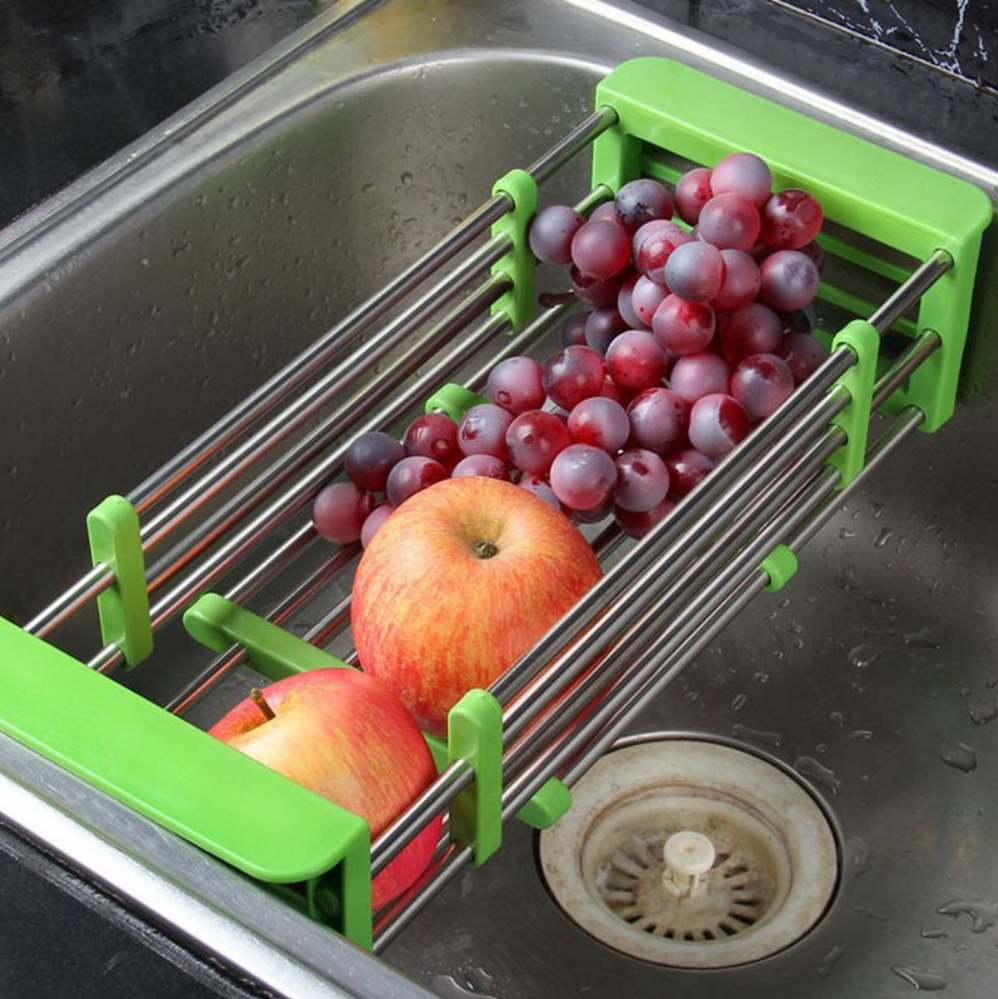 Stainless Steel Adjustable Fruit Vegetable Tray Drainer