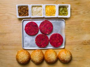 AKU'S DiY Root Vegetable Burger Kit