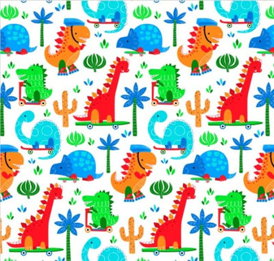 Dino Daso Print on Minky Fabric by EZ Fabric
