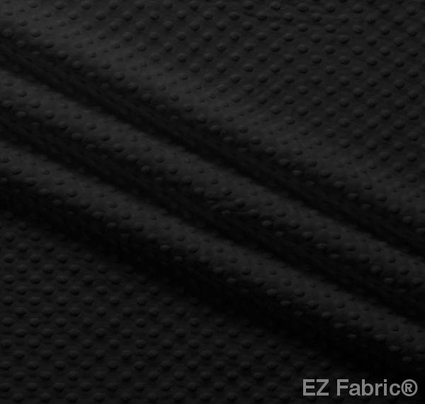 Silky Minky Dot Black by EZ Fabric