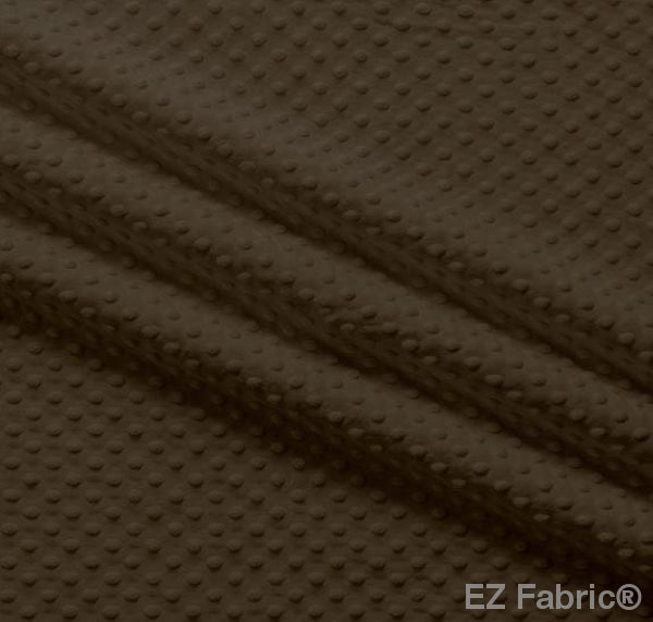 Silky Minky Dot Brown by EZ Fabric