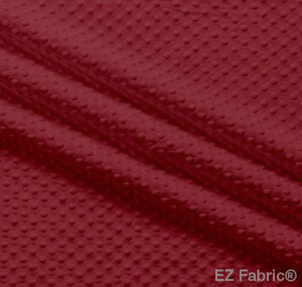 Silky Minky Dot Burgandy by EZ Fabric