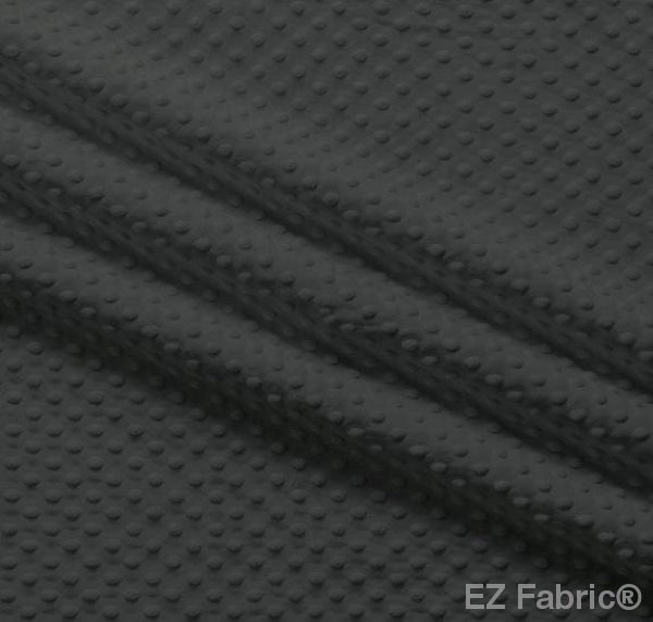 Silky Minky Dot Charcoal by EZ Fabric