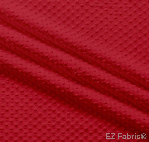 Silky Minky Dot Cherry by EZ Fabric