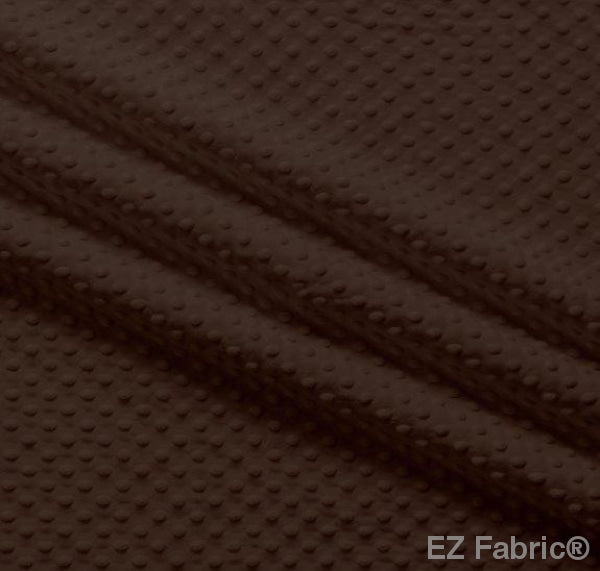Silky Minky Dot Chocolate by EZ Fabric