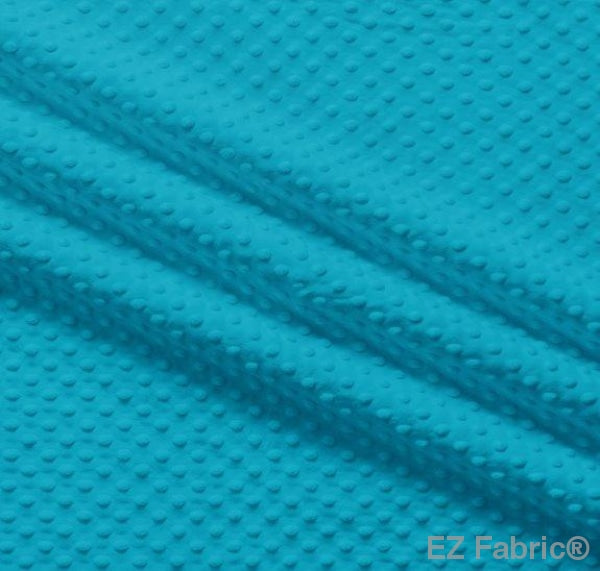 Silky Minky Dot Dark Turquoise by EZ Fabric