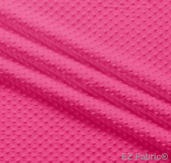 Silky Minky Dot Hot Pink by EZ Fabric
