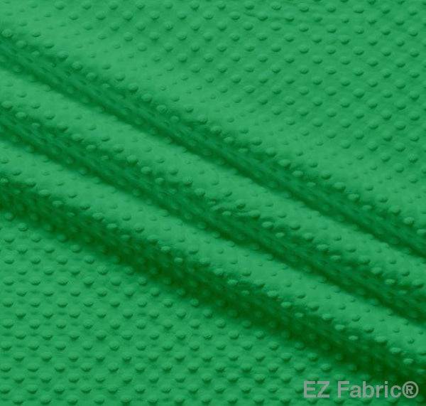Silky Minky Dot Kelly Green by EZ Fabric