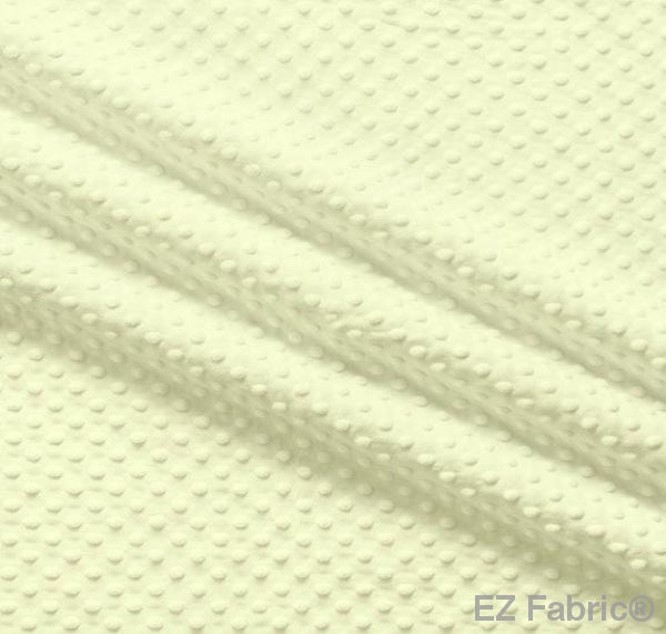 Silky Minky Dot Lemon by EZ Fabric