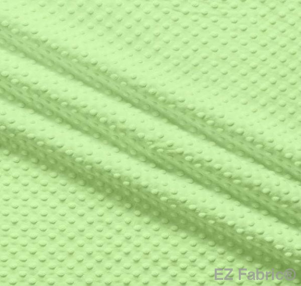 Silky Minky Dot Lime by EZ Fabric