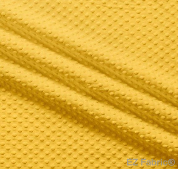 Silky Minky Dot Mango Yellow by EZ Fabric