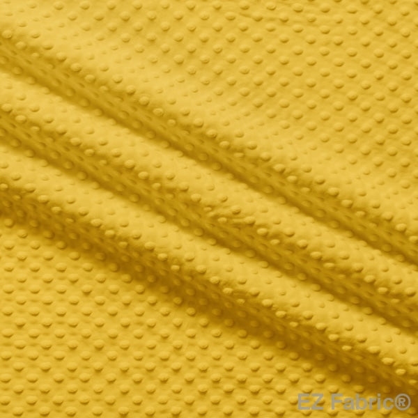 Silky Minky Dot Fabric Mustard Solid Smooth