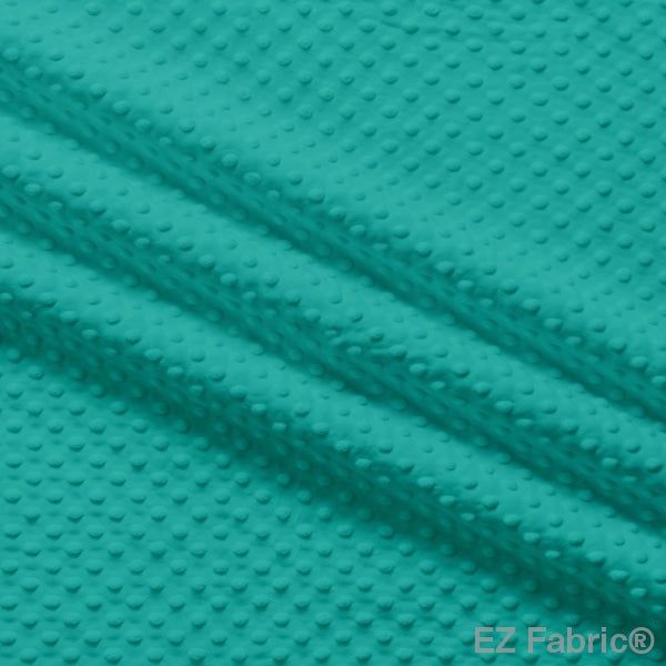 Silky Minky Dot Fabric Ocean Solid Smooth