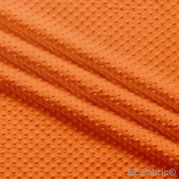 Silky Minky Dot Fabric Orange Solid Smooth