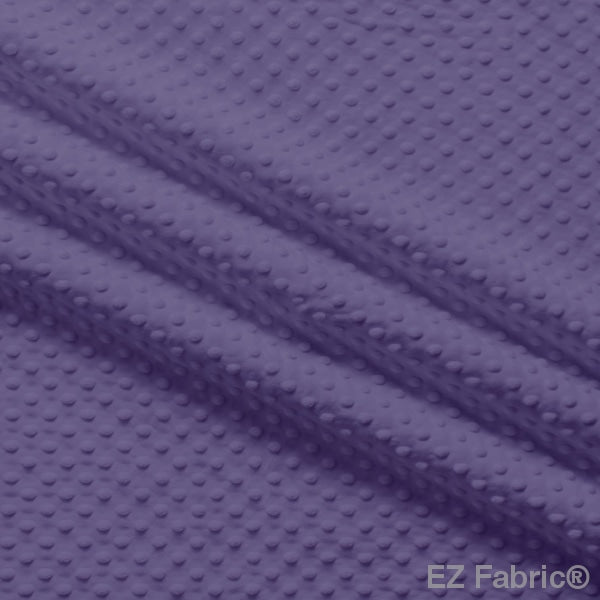 Silky Minky Dot Fabric Purple Solid Smooth