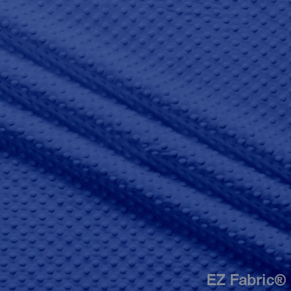 Silky Minky Dot Fabric Royal Blue Solid Smooth
