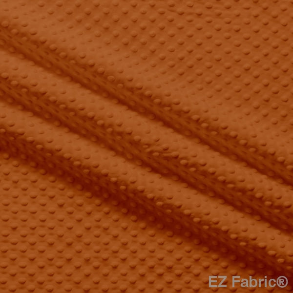 Silky Minky Dot Fabric Rust Solid Smooth