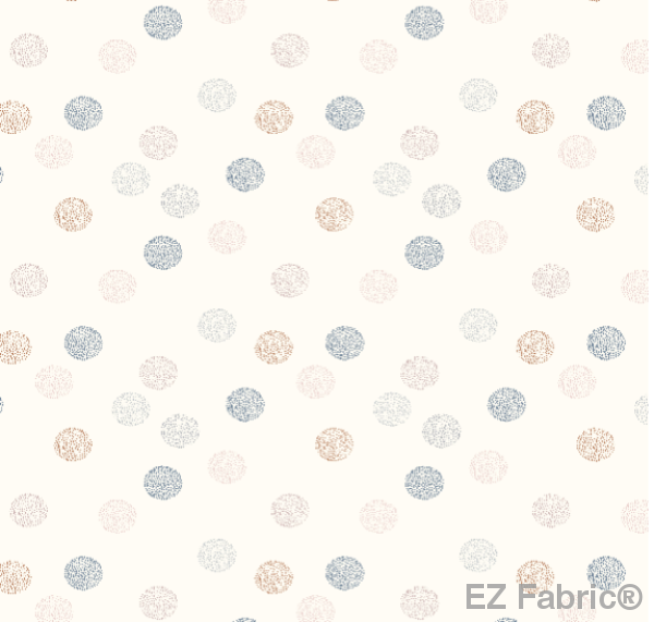 Speck of fall Cream on Minky Fabric by EZ Fabric