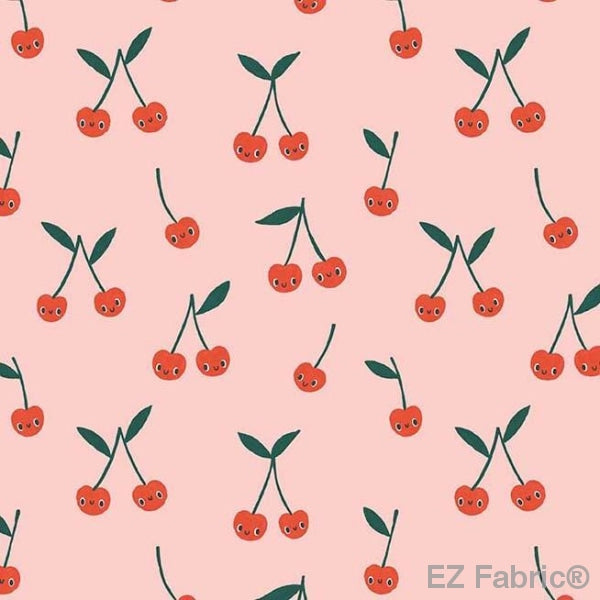 Cherry Cute on Minky Smooth by EZ Fabric
