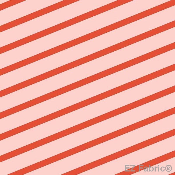 Cherry Stripe Pink Minky Smooth by EZ Fabric