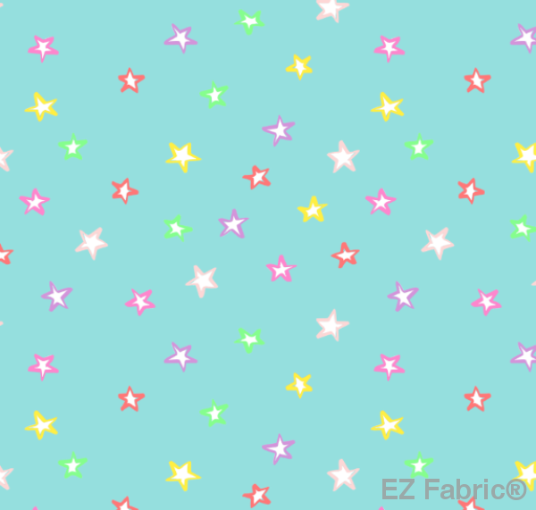 Neon Starlight Multi Print Minky By EZ Fabric