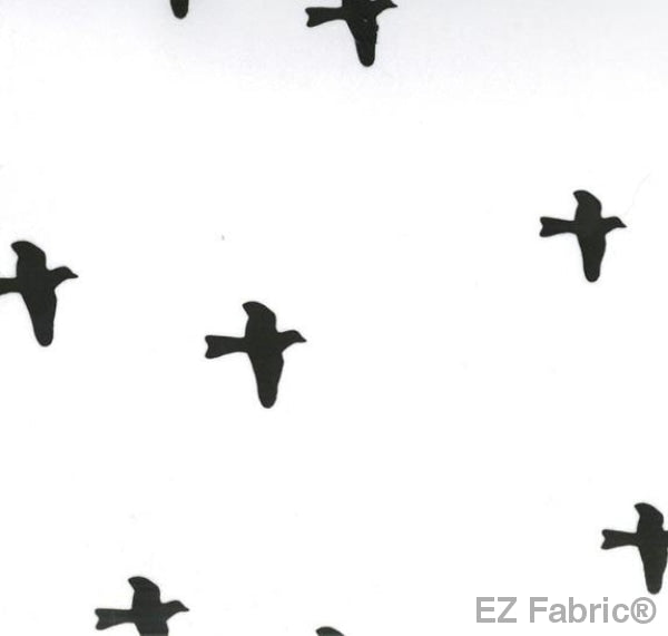 EZ Birds White on Minky Fabric by EZ Fabric