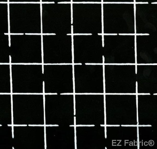EZ Grid Black on Minky Fabric by EZ Fabric