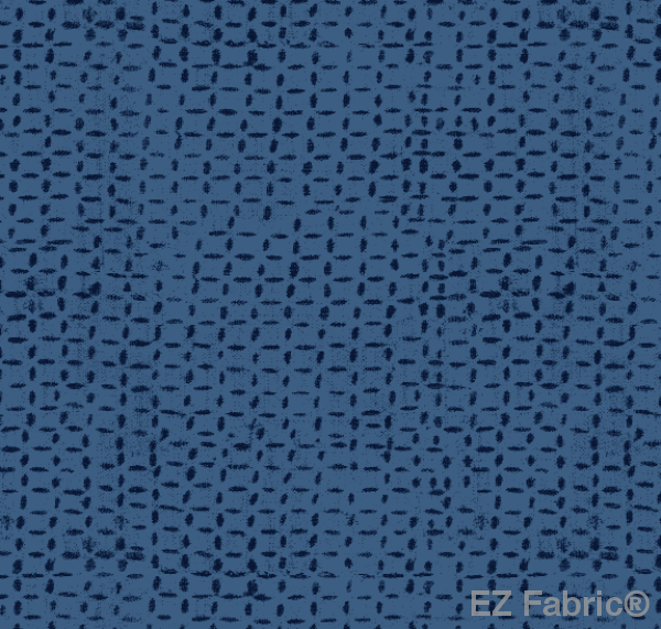 FEMI BLUE PRINT ON MINKY FABRIC BY EZ FABRIC