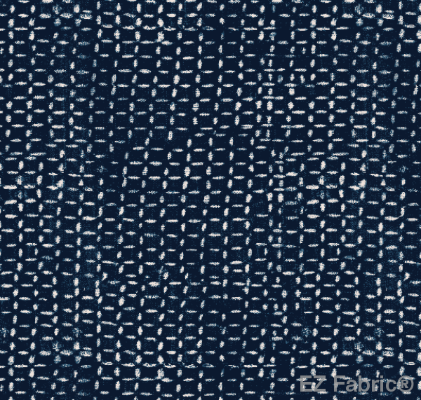 FEMI ROYAL BLUE PRINT ON MINKY FABRIC BY EZ FABRIC