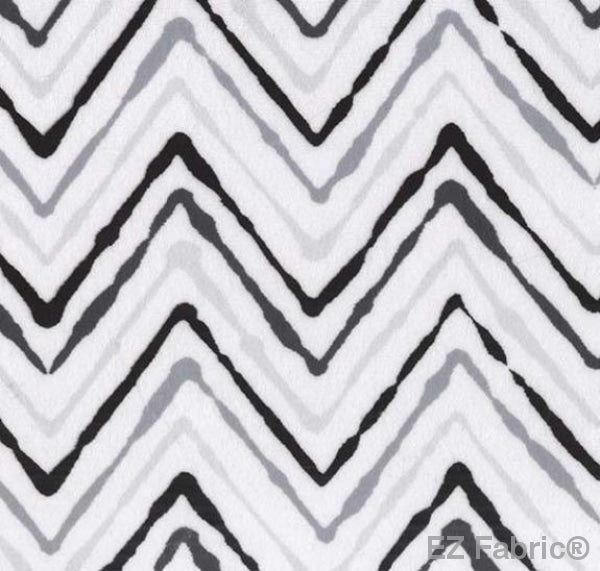 Chevron Ikat Back on Minky Fabric by EZ Fabric