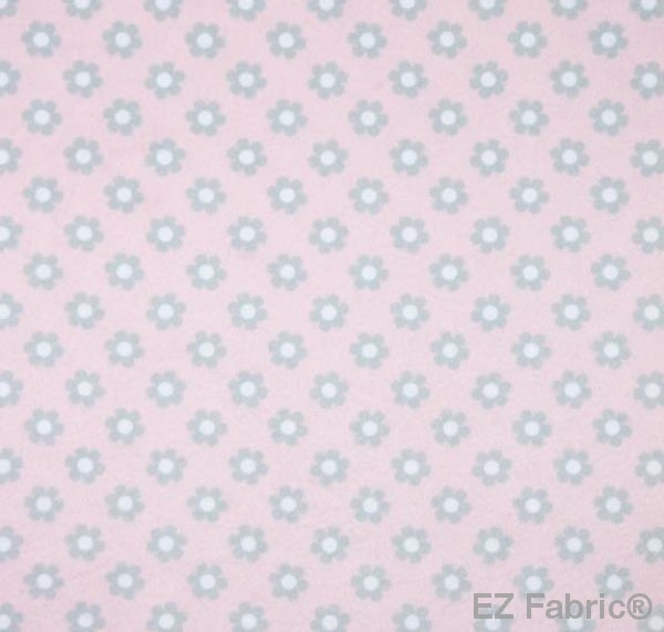Ditsy Candy Pink Print Minky By EZ Fabric