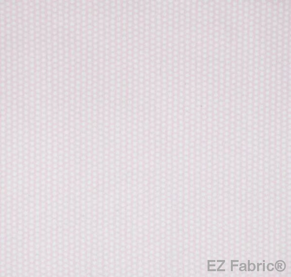 Swiss Dot Candy Pink Print Minky By EZ Fabric