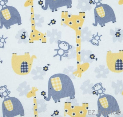 Jungle Dream Yellow Print Minky By EZ Fabric
