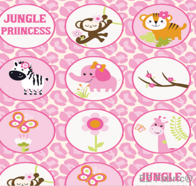 Jungle Bubbles Pink on Smooth Minky Fabric by EZ Fabric