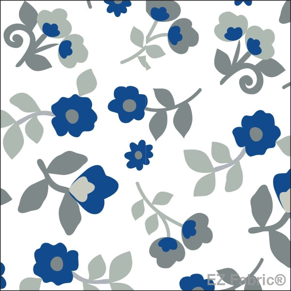 Smooth Kashmir Print On Minky Fabric Sky / Floral