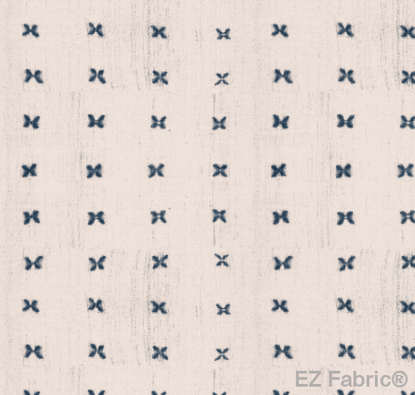Mabel Navy Mud Cloth Print on Minky Fabric by EZ Fabric