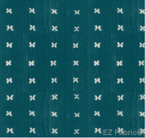 Mabel Teal Mud Cloth Print on Minky Fabric by EZ Fabric