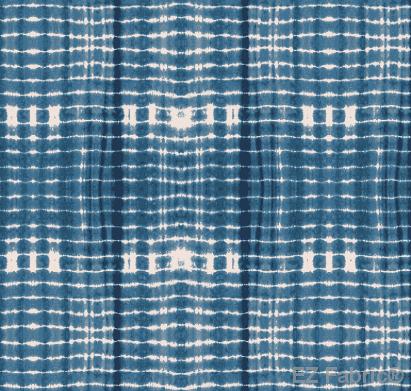 Nia Indigo Mudcloth Print on Minky Fabric by EZ Fabric