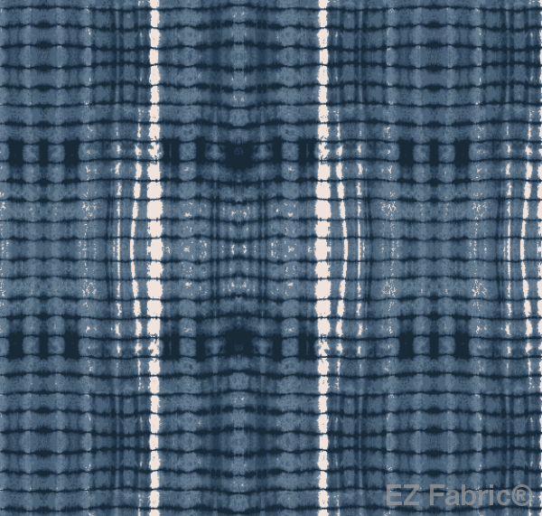 Nia Navy Mudcloth Print on Minky Fabric by EZ Fabric