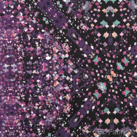 Smooth Prismatic Print On Minky Fabric Purple