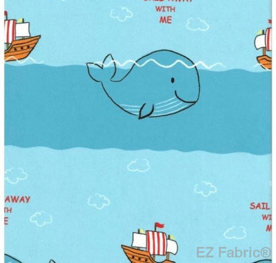 Ready,Set,Sail on Minky Fabric by EZ Fabric