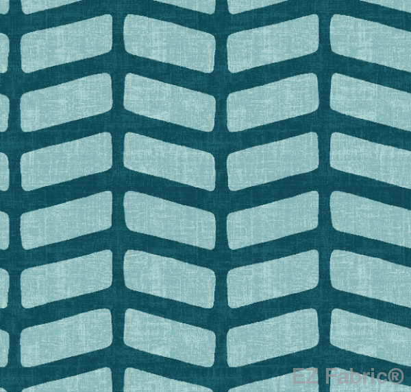Sade Teal Mud Cloth Print on Minky Fabric by EZ Fabric